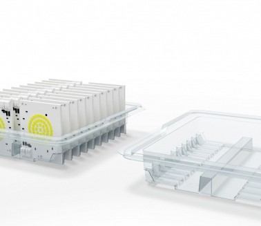 Tray for electronic components